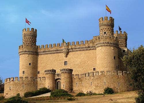 Manzanares el Real, Madrid, Castillo de Santillana.
