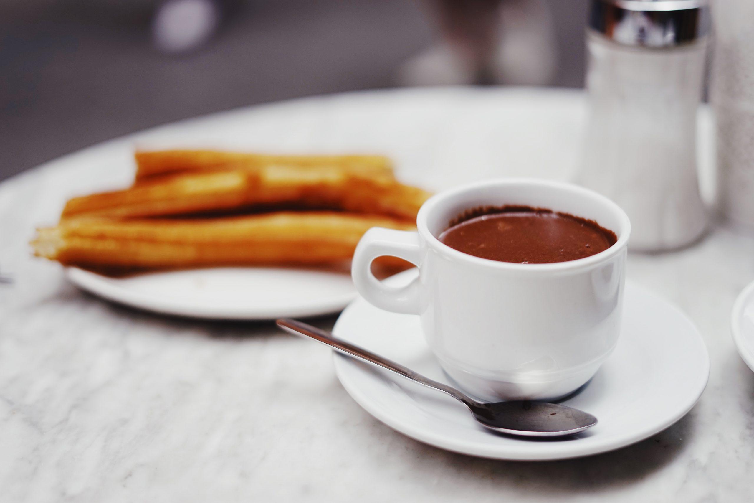 Porras con chocolate